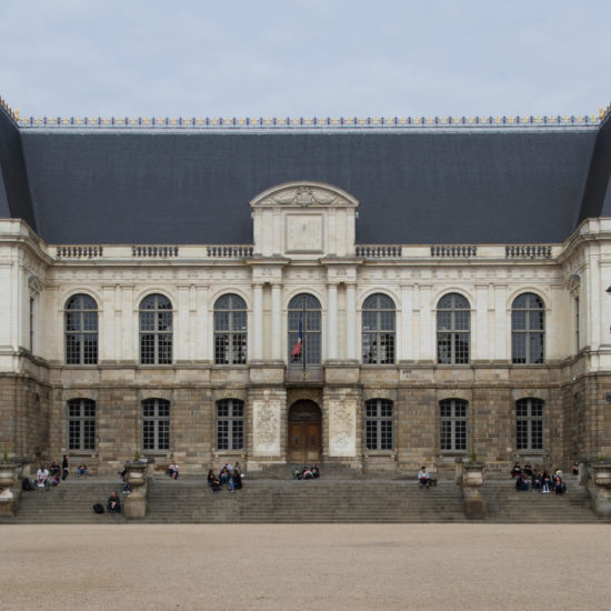 """Palace of the Parliament of Brittany (""""Parlement de Bretagne""""), in Rennes, France."""